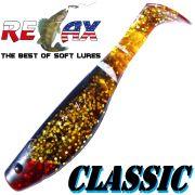 Relax Kopyto Classic 4L 4 Gummifisch 11cm Farbe Bernstein Glitter Schwarz