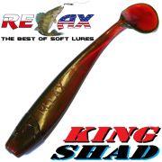 Relax King Shad Gummifisch ca. 11cm 4 Farbe Motoroil Zanderköder