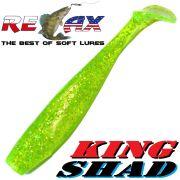 Relax King Shad Gummifisch ca. 11cm 4 Farbe Grün Glitter Zanderköder