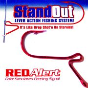 StandOut Lever Action Fishing System Gr.2/0 Dropshothaken Red Alert 5 Stück Farbe Rot