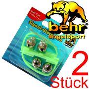 Behr Aal - Glock / Signaglocke / Fishing Bell & Knicklichthalter mit 2 Glöckchen nachleuchtend 2 Stück im Set
