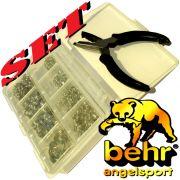 Behr Sprengring - Set mit Sprengringzange & 310 Sprengringen in einer praktischen Sortiment -Box