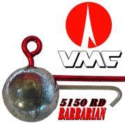 VMC Jigkopfhaken Jigkopf Rund mit Baitholder in Größe 3/0 14g Jighaken mit VMC Barbarian 5150 RD Haken 1 Stück