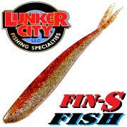 Lunker City Fin-S-Fish Gummifisch 5 -12,5cm Farbe Orange ICE No Action Shad Barsch & Zanderköder