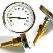 Thermometer für Räucherofen analog 0-120 °C ideal zur schnellen Montage kein schrauben nötig