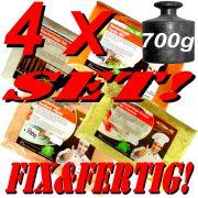 Primus Räucherlauge im Set Fix&Fertig gemischt 4 Geschmacksrichtungen 4 X 700g für je ca. 10 Liter Lauge Einlegezeit ca. 12 Stunden