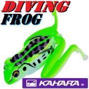 Kahara Diving Frog tauchender Gummifrosch ca. 60mm 17,2g Farbe Black Spotted Pond Frog Top Hechtköder