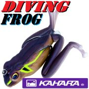 Kahara Diving Frog tauchender Gummifrosch ca. 60mm 17,2g Farbe JP Brown Frog Top Hechtköder