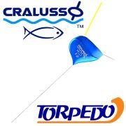 Cralusso Torpedo Strömungspose Tragkraft 2g mit Wechselantenne für starkes verzögern & halten in der Strömung