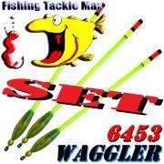 FTM Stab Waggler 6453 Set vorgebleit mit kräftiger Plexiglasantenne 3 Tragkräfte je 2 Stück = 6 Stück im Set