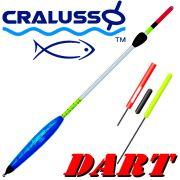 Cralusso Dart Stab - Waggler mit Golfball Effekt & Plexiglasantenne Tragkraft 6g mit Wechselantennen & Schnelljustierung