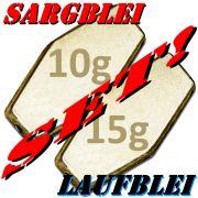 Sargblei Set / Laufblei Set 10g & 15g im Set - je 10 Stück = 20 Stück im Set ideal für Grundmontagen