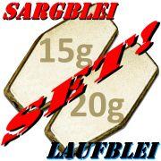 Sargblei Set / Laufblei Set 15g & 20g im Set - je 10 Stück = 20 Stück im Set ideal für Grundmontagen