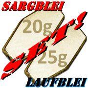 Sargblei Set / Laufblei Set 20g & 25g im Set - je 10 Stück = 20 Stück im Set ideal für Grundmontagen