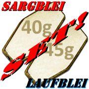 Sargblei Set / Laufblei Set 40g & 45g im Set - je 5 Stück = 10 Stück im Set ideal für Grundmontagen