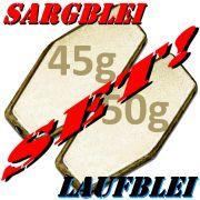 Sargblei Set / Laufblei Set 45g & 50g im Set - je 5 Stück = 10 Stück im Set ideal für Grundmontagen