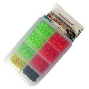 Paladin Fluo Gummiperlen & Plastikperlen Set Farbig in Kunststoffbox sortiert