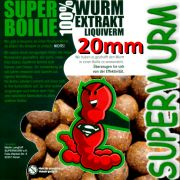 Superwurm Superboilie 4 X 1kg Bloilies Größe 20mm mit 100% Liqui Verm Lockstoff ideal als Futter & Hakenköder