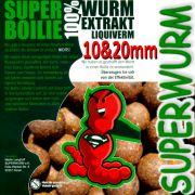 Superwurm Superboilie 10 X 1kg Boilies Größe 5 X 10mm & 5 X 20mm mit 100% Liqui Verm Lockstoff ideal als Futter & Hakenköder