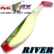 Relax Kopyto River 6 ca. 16cm Farbe Reinweiss Olive RT Swimbait der ideale Großhecht & Welsköder für Bodden & Co.