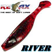 Relax Kopyto River 6 ca. 16cm Farbe Electric Candy Swimbait der ideale Großhecht & Welsköder für Bodden & Co.