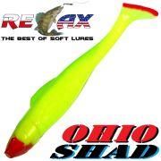 Relax Ohio Shad 5 Gummifisch ca. 14cm Farbe Fluogelb Grün RT 1 Stück Hecht&Zanderköder
