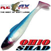 Relax Ohio Shad 5 Gummifisch ca. 14cm Farbe Perl Blau RT 1 Stück Hecht&Zanderköder