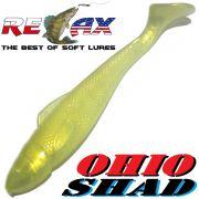 Relax Ohio Shad 5 Gummifisch ca. 14cm Farbe Goldperl 1 Stück Hecht&Zanderköder