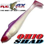 Relax Ohio Shad 5 Gummifisch ca. 14cm Farbe Violett Pearl RT 1 Stück Hecht&Zanderköder