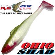 Relax Ohio Shad 5 Gummifisch ca. 14cm Farbe Perl Olive RT 1 Stück Hecht&Zanderköder