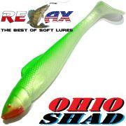 Relax Ohio Shad 5 Gummifisch ca. 14cm Farbe Perl Grün 1 Stück Hecht&Zanderköder