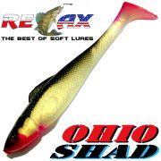 Relax Ohio Shad 5 Gummifisch ca. 14cm Farbe Goldperl Schwarz RT 1 Stück Hecht&Zanderköder