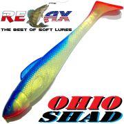 Relax Ohio Shad 5 Gummifisch ca. 14cm Farbe Goldperl Blau RT 1 Stück Hecht&Zanderköder
