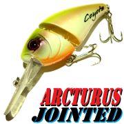 Coyote Pro Lures Arcturus Jointed Crankbait Wobbler 7cm 15g Farbe Yellow & White Barsch&Zanderköder
