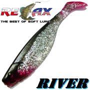 Relax Kopyto River 5 Gummifisch 12,5 cm Kristall Glitter Schwarz RT 1 Stück idealer Wels & Hechtköder