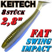 8 X Keitch FAT Swing Impact 2,8 Gummifisch 7cm Tennessee Shad