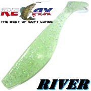 Relax Kopyto River 5 Gummifisch 12,5 cm UV Glitter selbstleuchtend 1 Stück idealer Wels & Hechtköder