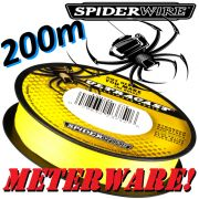 Spiderwire Ultrcast 8 Carrier Ultimate Braid HI-VIS Yellow in 0,12mm 9,1kg 200m Meterware