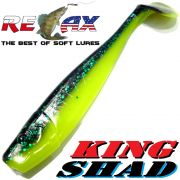 Relax King Shad 4 Gummifisch ca. 11cm Farbe Mahi Mahi Zanderköder