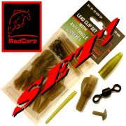 Red Carp Leader Clip set mit Anti Tangle Sleeves + Safty Clip´s + Pin´s + Tail-Rubber + Wirbel in Gr. 8 / 51 Teile im Set