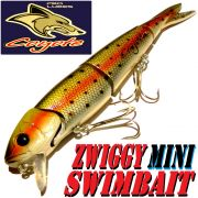 Coyote Pro Lures Zwiggy Mini Swimbait 18cm 40g Farbe Rainbow Trout 10AT Wobbler Hechtköder