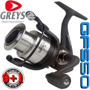 Greys Prodigy GFS 50 Stationärrolle Größe 5000 Gewicht: 318g 9+1 Lager 200m - 0,33mm Mikrofeine Frontbremse