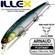 Illex Arnaud 110F Wobbler Floating 18g Farbe Shine Katana Design by Seiji Kato