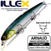 Illex Arnaud 110F Wobbler Floating 18g Farbe Shine Katana Design by Seiji Kato