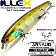 Illex Arnaud 110F Wobbler Floating 18g Farbe HL Strip Blue Gill Design by Seiji Kato