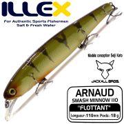 Illex Arnaud 110F Wobbler Floating 18g Farbe Perch Design by Seiji Kato