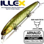Illex Arnaud 110F Wobbler Floating 18g Farbe HL Pike Design by Seiji Kato