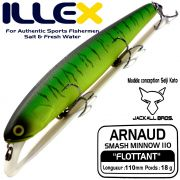 Illex Arnaud 110F Wobbler Floating 18g Farbe Mat Tiger Design by Seiji Kato