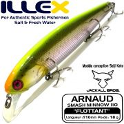 Illex Arnaud 110F Wobbler Floating 18g Farbe Visible Trout Design by Seiji Kato