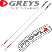 Greys Prowla Safe System Supa Titanium Lure Trace Titanvorfächer 30cm 18kg - 40lb 2 Stück im Set